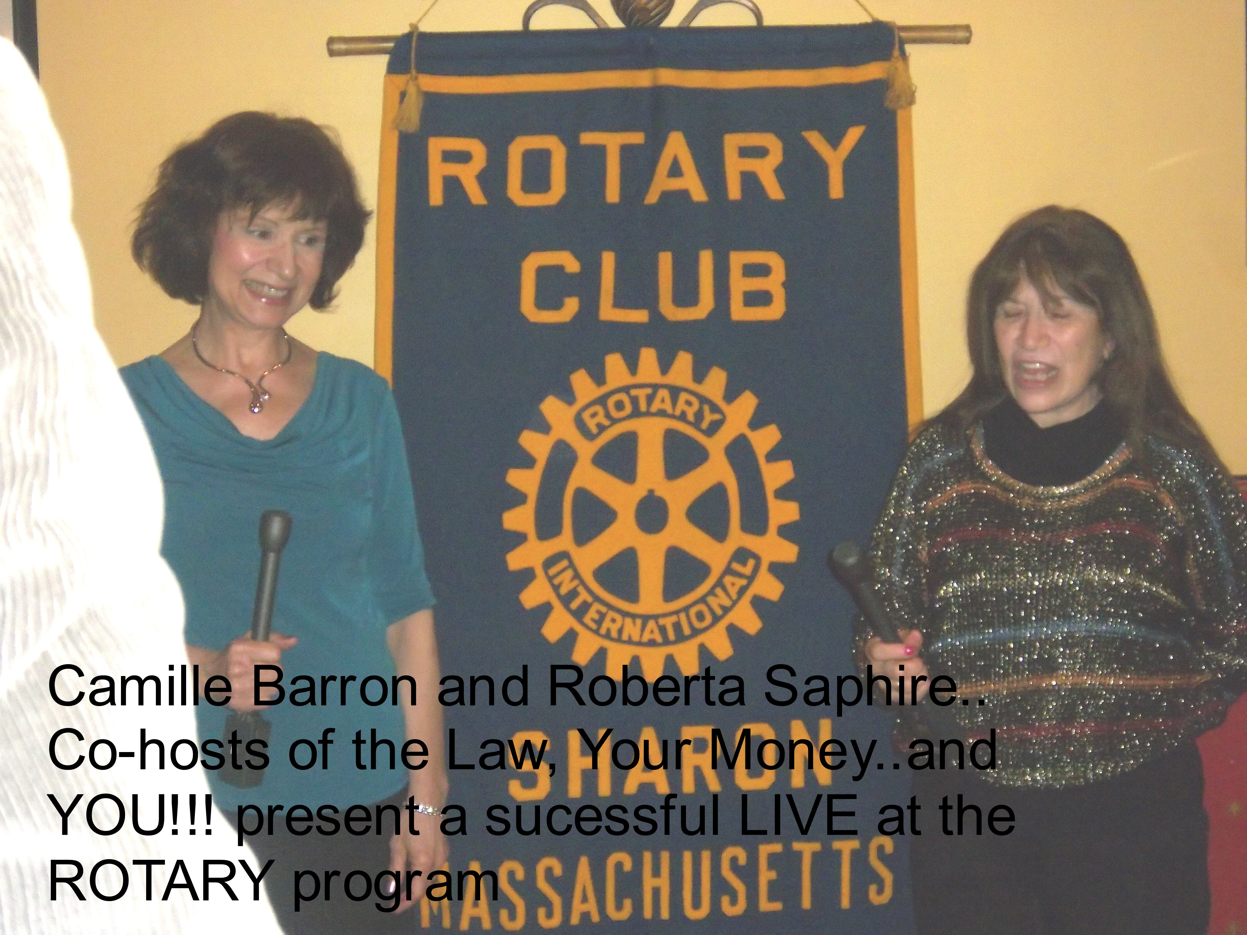 Camille and Roberta at Rotary