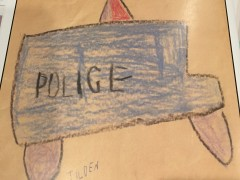 Displayed at Sharon Police Department, photo from Chief when 6 years old