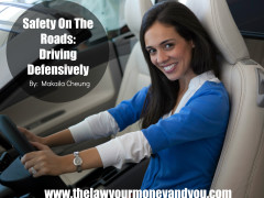 Portrait of smiling woman sitting in front seat of car